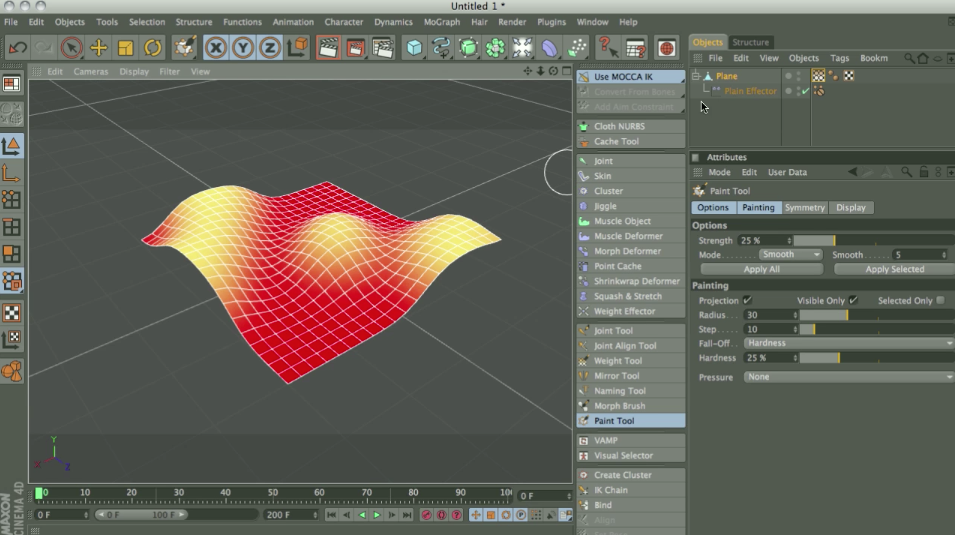 CinemaPlugins com | How to use Vertex Maps with MoGraph